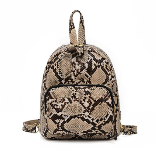 Serpentine PU Thread Backpacks