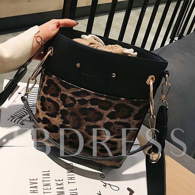 Print PU Rectangle Crossbody Bags