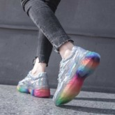 Lace-Up Color Block Platform Women's Chunky Sneakers