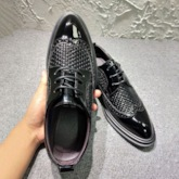 Low-Cut Upper Plain Lace-Up Pointed Toe Men's Business Shoes