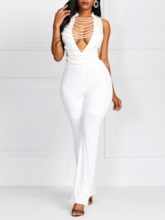 Date Night Plain Full Length Slim Women's Jumpsuit