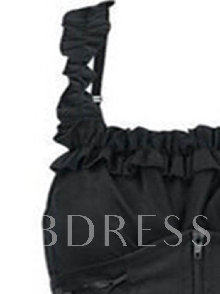 Halloween Costume Pleated Sleeveless Knee-Length Standard-Waist Women's Day Dress