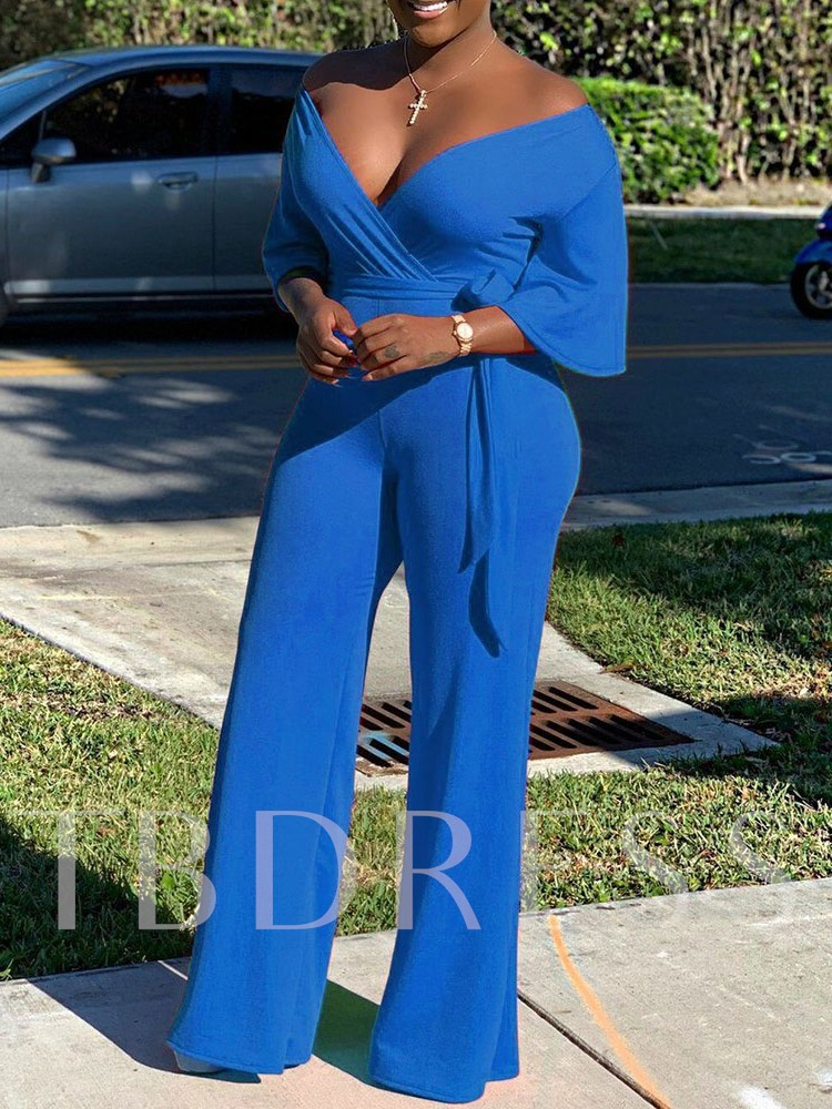 Plain Full Length Party/Cocktail Straight Women's Jumpsuit