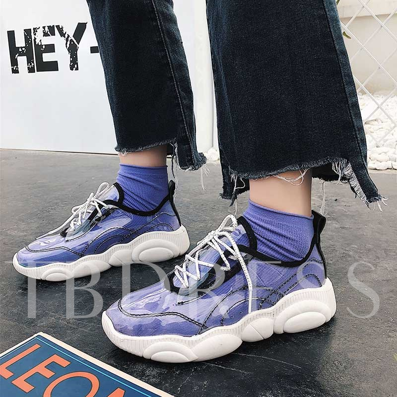 Lace-Up See Through Chic Women's Sneakers