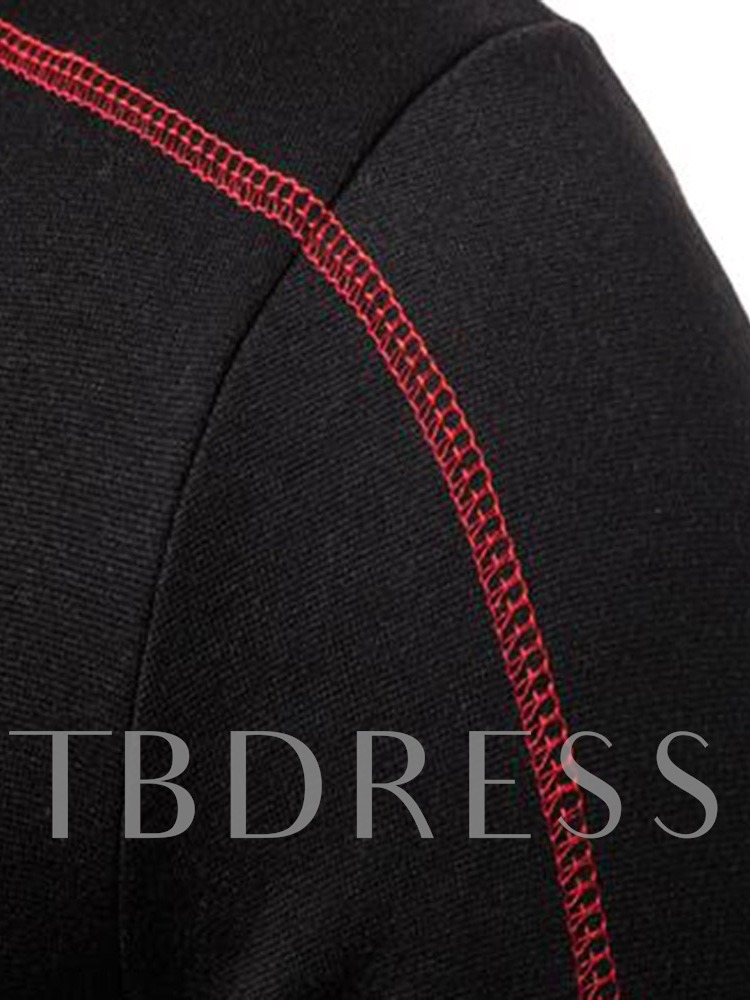 Patchwork Thick Cardigan Color Block Hooded Men's Hoodies
