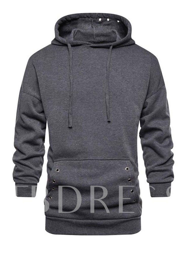 Pullover Thick Plain Pocket Hooded Men's Hoodies