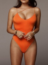 Plain Sexy One Piece Women's Swimwear