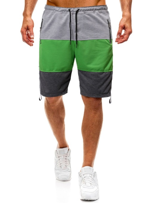 Lace-Up Color Block Loose Lace-Up Men's Shorts