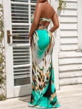 Sleeveless Backless Ankle-Length Sexy Women's Maxi Dress