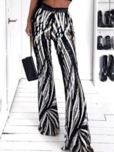 Print Stripe Loose Full Length Women's Casual Pants