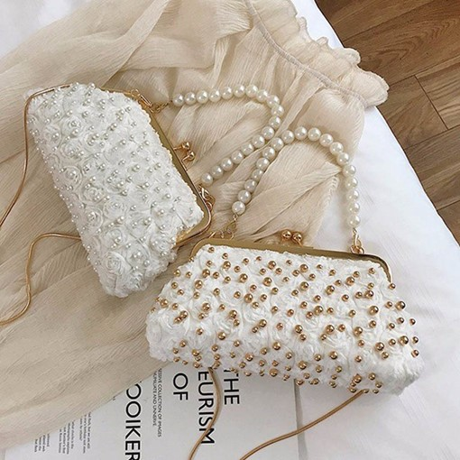 Floral Beads Crossbody Bags