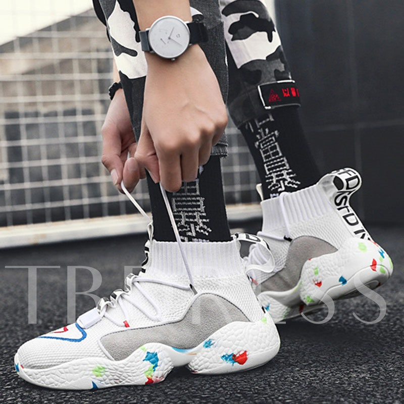 Lace-Up High Top Outdoor Lightweight Men's Basketball Shoes