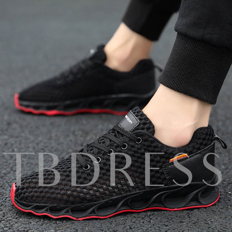 Lace-Up Sports Round Toe Men's Sneakers