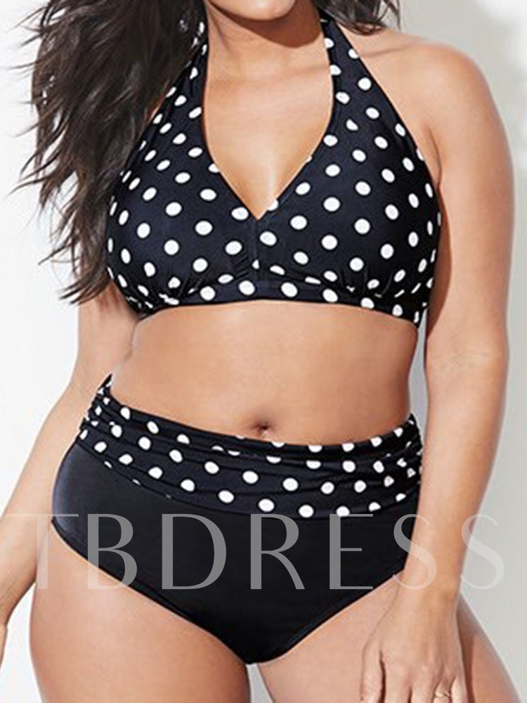 Plus Size Tankini Set Lace-Up Beach Look Floral Women's Swimwear