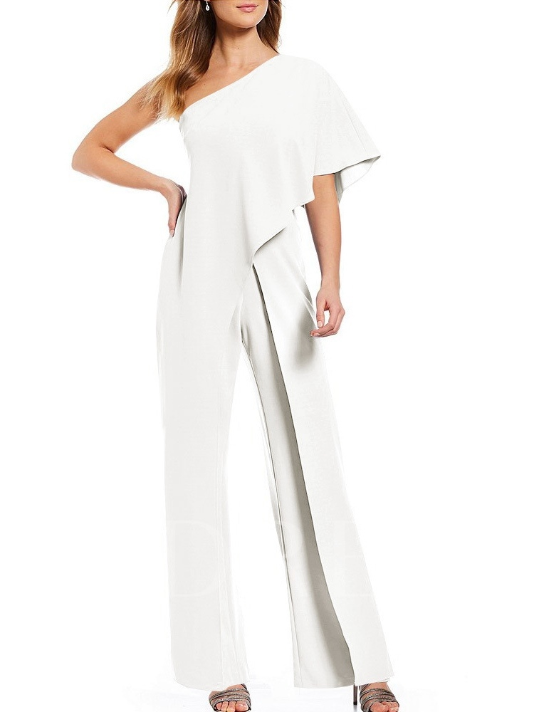 Plain Asymmetric Party/Cocktail Full Length Loose Women's Jumpsuit