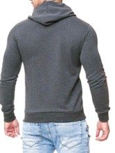 Casual Cotton Blends Patchwork Color Block Pullover Regular Slim Men's Hoodies