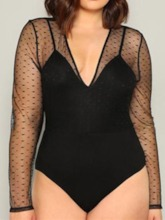 Sexy See-Through Shorts Plain Skinny Women's Jumpsuit