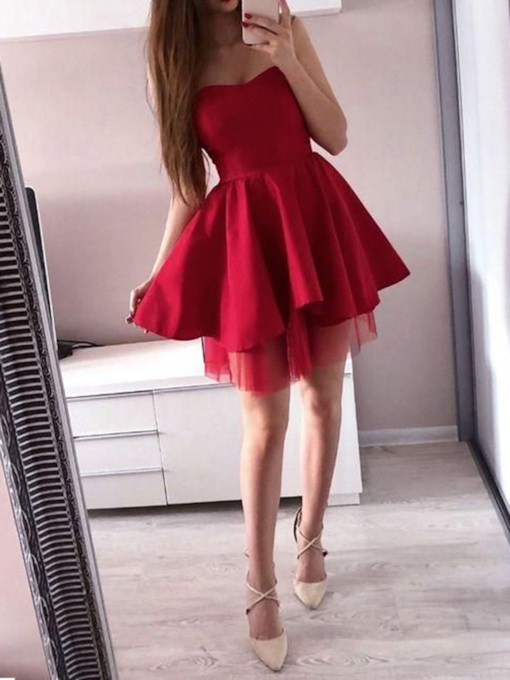 Sweetheart Sleeveless A-Line Short Homecoming Dress