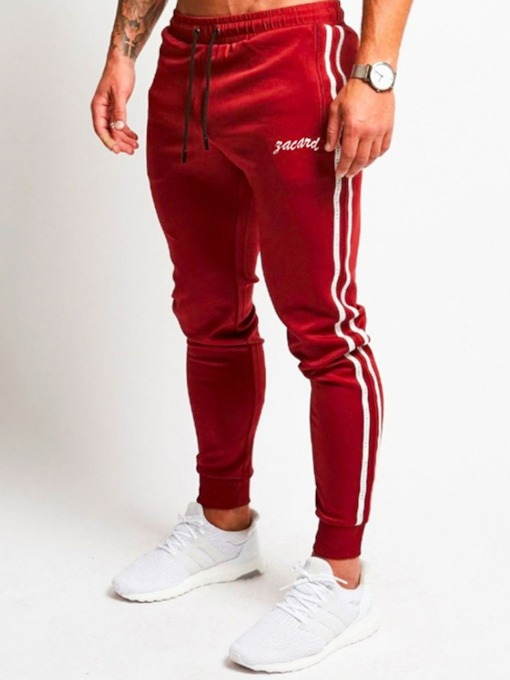 Fashion Thin Patchwork Stripe Spring Men's Casual Pants