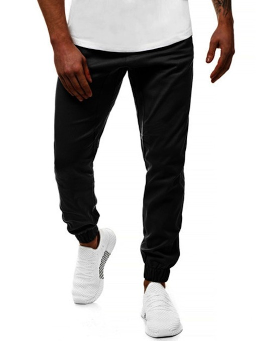 Fashion Design Cotton Plain Pocket Ankle Length Fall Men's Casual Pants