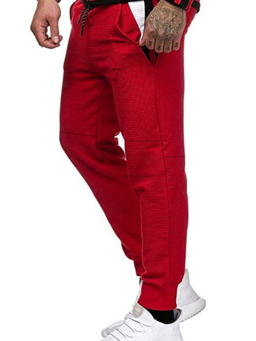 Pocket Color Block Casual Men's Casual Pants
