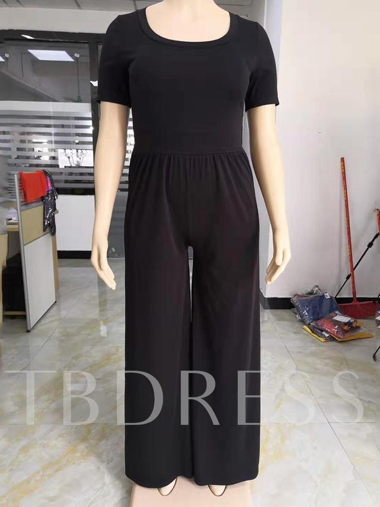 Casual Plain Full Length Wide-Legs Women's Jumpsuit