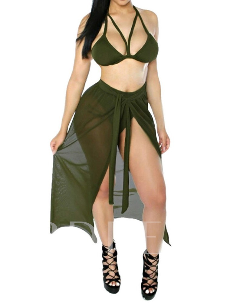 Hollow Sexy Bikini Set Women's Swimwear
