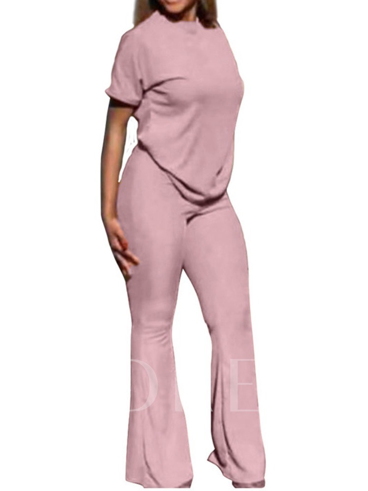 Pants Western Plain Pullover Women's Two Piece Sets