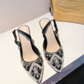 Slingback Strap Buckle Stiletto Heel Pointed Toe Prom Sandals