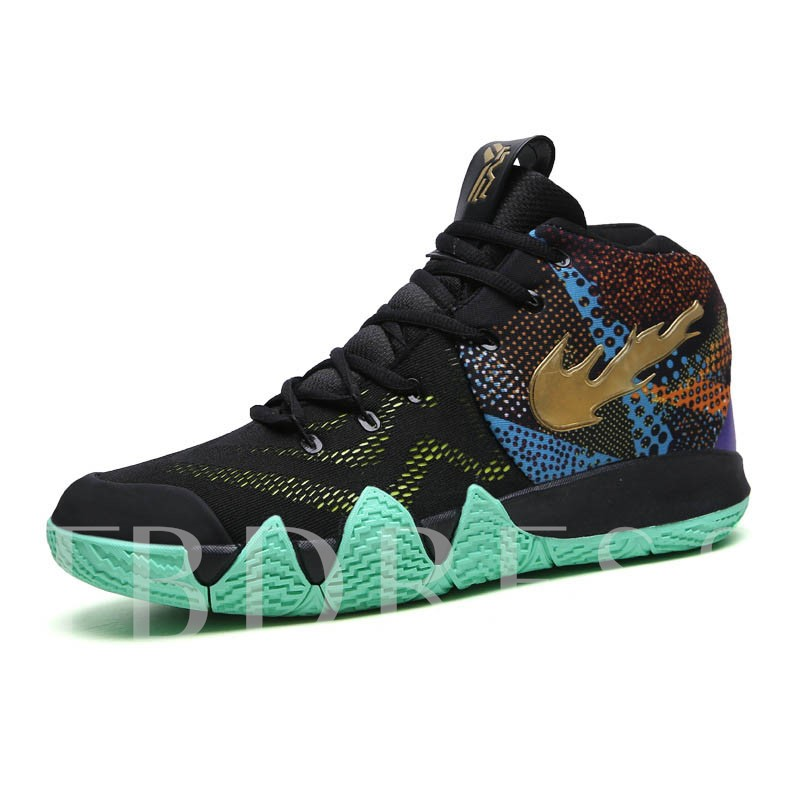 Sports Lace-Up Mesh Men's Basketball Shoes