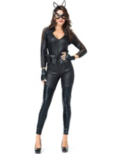 Plain Black Cat Girl Women's Costume