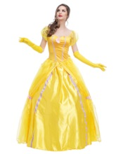 Short Sleeve Floral 3D Fall Yellow Fairy Women's Costume
