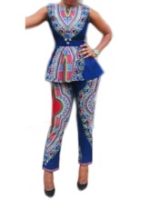 Sexy Pants Geometric Print Women's Two Piece Sets