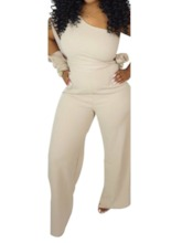 Plain Full Length Western Mid Waist Women's Jumpsuit