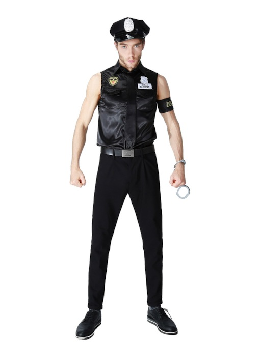 Police Sleeveless Men's Halloween Costume