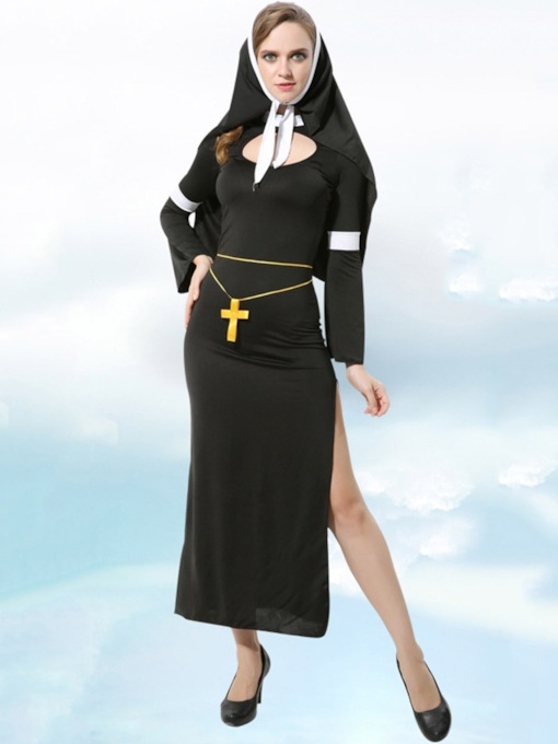 Nine Points Sleeve Women's Nun Costume