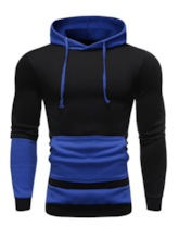 Thick Pocket Color Block Pullover Pullover Men's Hoodies
