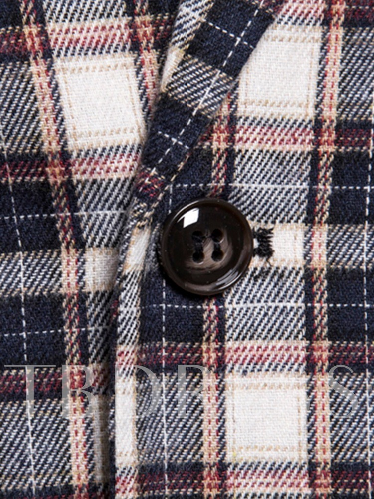 Men's Plaid Casual Collar Double Breasted Vest Button Double-Breasted Men's Waistcoat