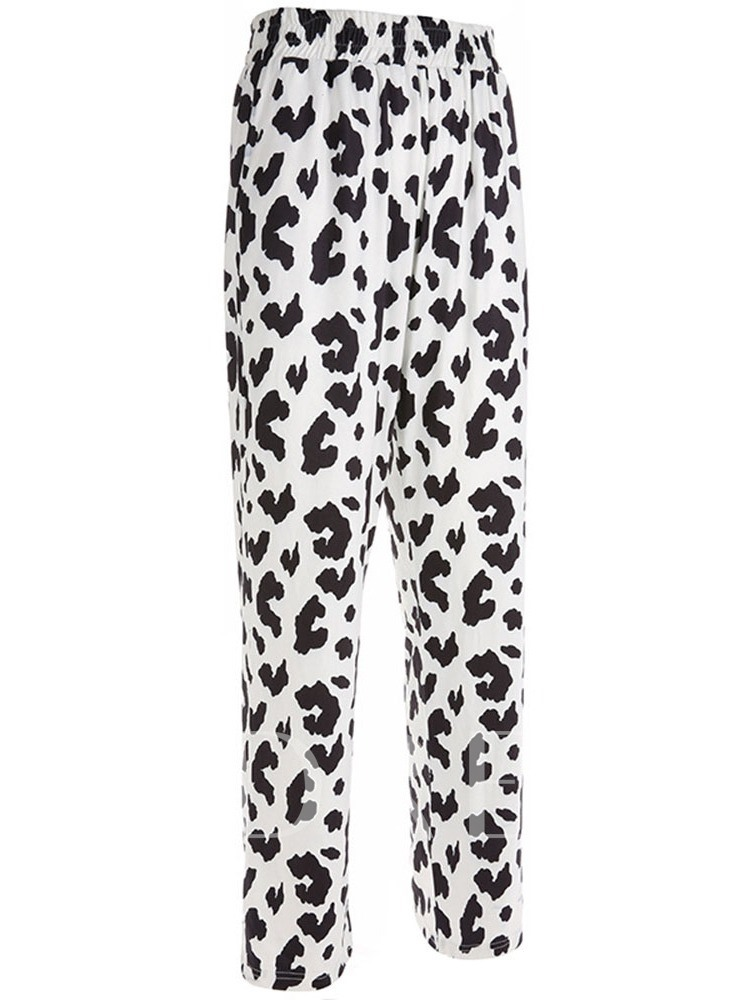 Loose Print Straight Women's Casual Pants