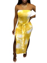 Sleeveless Lace-Up Ankle-Length Summer Women's Bodycon Dress