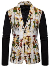 Cartoon Casual Single-Breasted Notched Lapel Men's leisure Suit