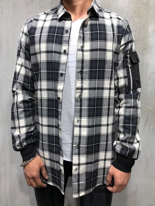 Casual Cotton Plaid Print Loose Long Sleeves Lapel Button Single-Breasted Men's Shirt