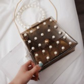 Beading PVC Chain Women's Cross Body Bags