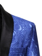 Casual Straight One Button Color Block Pockets Formal Business Men's leisure Suit