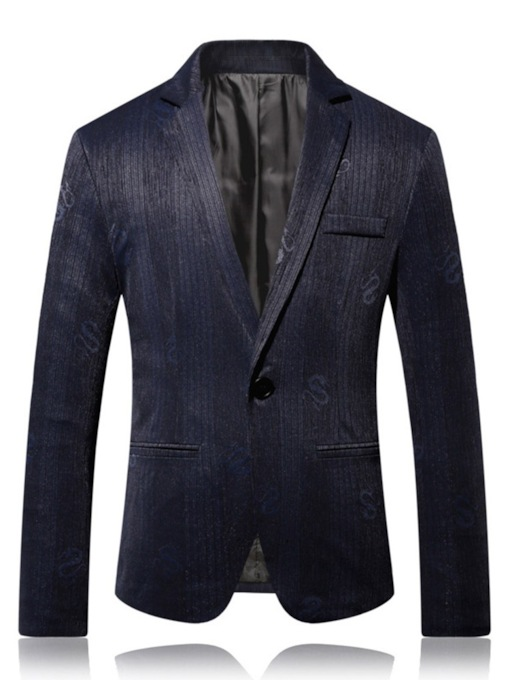 Casual Pocket One Button Notched Lapel Men's leisure Suit