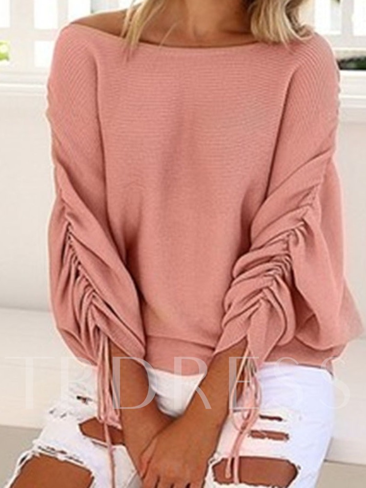 Batwing Sleeve Thin Patchwork Standard Women's Sweater