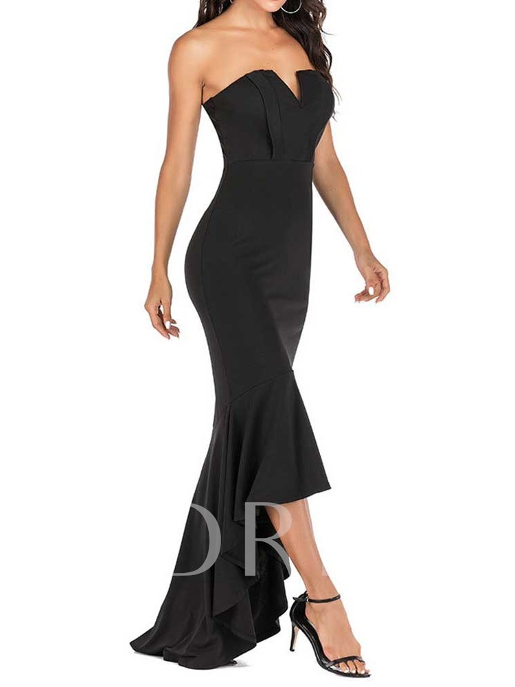 Floor-Length Off Shoulder Sleeveless Women's Maxi Dress