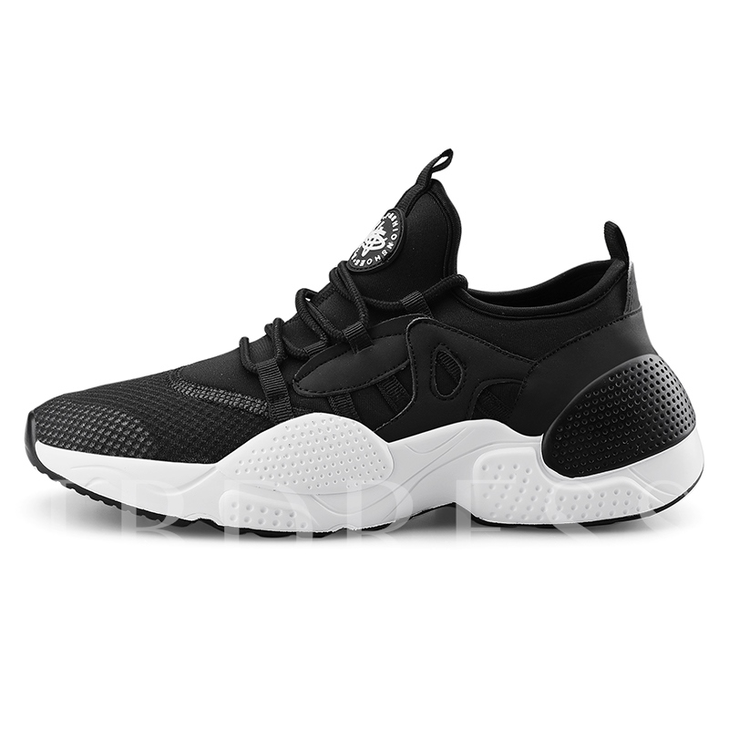 Sports Low-Cut Upper Flat Lace-Up Round Toe Men's Sneakers