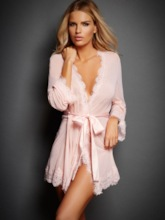 Cardigan Plain Lace-Up Long Sleeve Robe