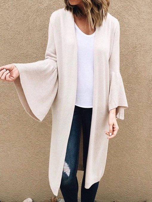 Wrapped Flare Sleeve Long Women's Sweater